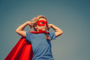 Child superhero portrait